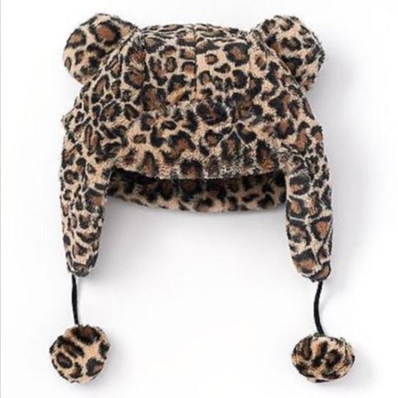 92ac164b39a So Kohl s Girls Leopard Trapper Hat Pom Pom Small